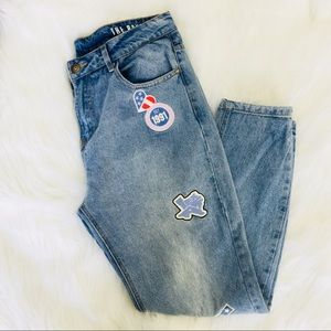 Cotton on The boyfriend patch jeans size 10